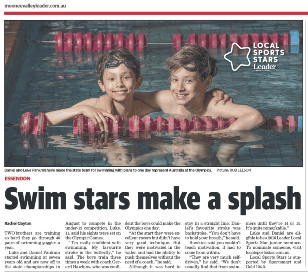 Swim Stars Make a Splash